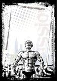 Fondo del cartel del Bodybuilder stock de ilustración