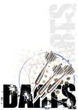 Fondo del cartel del círculo de los dardos stock de ilustración