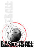 Fondo del cartel del círculo del baloncesto Imagen de archivo