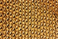 Fondo del cartone ondulato di Brown Fotografia Stock