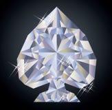 Fondo del casinò con l'elemento della mazza del diamante della vanga Fotografie Stock Libere da Diritti