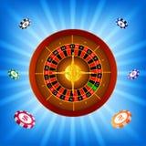 Fondo del casinò delle roulette illustrazione di stock