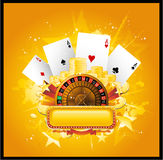 Fondo del casino Imagen de archivo libre de regalías