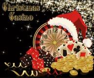 Fondo del casino de la Navidad Fotos de archivo