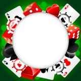 Fondo del casino del vector de la ruleta Foto de archivo