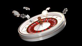 Fondo del casino Rueda de ruleta de lujo del casino aislada en fondo negro Tema del casino Casino blanco del primer libre illustration