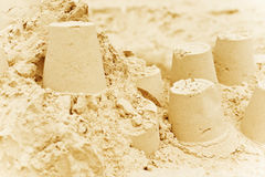 Fondo del castillo de arena Fotografía de archivo libre de regalías