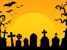 Fondo del cementerio de Víspera de Todos los Santos Imágenes de archivo libres de regalías