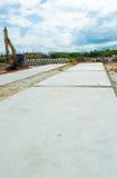 Fondo del cemento del passaggio pedonale Fotografia Stock