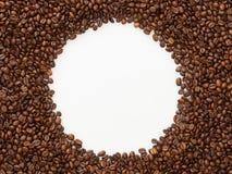 Fondo del cerchio dei chicchi di caffè Fotografia Stock