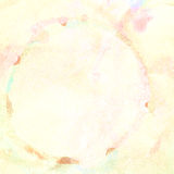 Fondo del cerchio variopinto di goccia dell'acquerello su struttura di carta Fotografia Stock Libera da Diritti