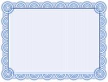 Fondo del certificado Fotografía de archivo libre de regalías