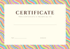 Fondo del certificado/del diploma (plantilla) Imagen de archivo libre de regalías