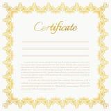Fondo del certificado del vector Foto de archivo