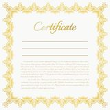 Fondo del certificato di vettore Fotografia Stock