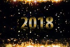 Fondo del chiarore - nuovo anno 2018 Immagine Stock