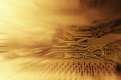 Fondo del chip de ordenador Fotos de archivo