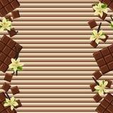 Fondo del chocolate Imagenes de archivo