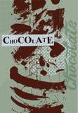 Fondo del chocolate Diseño del cartel del vintage Foto de archivo libre de regalías