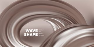 Fondo del chocolate, forma flúida abstracta ilustración del vector