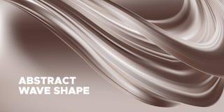 Fondo del chocolate, forma flúida abstracta libre illustration