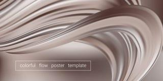 Fondo del chocolate, forma flúida abstracta stock de ilustración