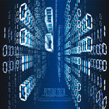 Fondo del ciberespacio de la matriz del número abstracto del vector Imagen de archivo libre de regalías