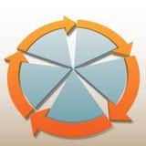 Fondo del ciclo de los rocess de las flechas de la conexión Imágenes de archivo libres de regalías