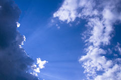Fondo del cielo azul Foto de archivo libre de regalías