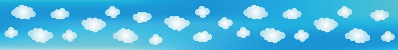 Fondo del cielo azul ilustración del vector