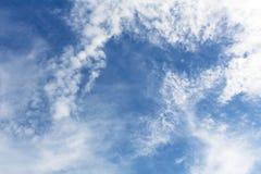 Fondo del cielo azul con minúsculo Imagen de archivo libre de regalías