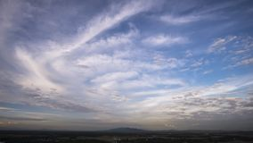 Fondo del cielo azul y de la nube Fotografía de archivo libre de regalías