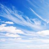 Fondo del cielo azul y de las nubes foto de archivo