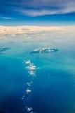 Fondo del cielo azul y del mar Fotografía de archivo libre de regalías