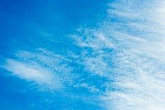 Fondo del cielo blu di pubblicità Fotografia Stock