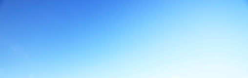 Fondo del cielo blu nessuna nuvola Immagini Stock Libere da Diritti
