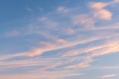 Fondo del cielo de la puesta del sol foto de archivo