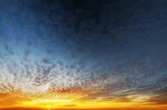 Fondo del cielo de la tarde Imagen de archivo libre de regalías