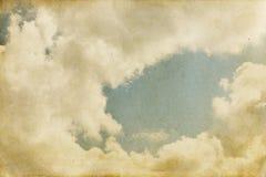 Fondo del cielo de la vendimia Imagenes de archivo