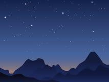 Fondo del cielo del amanecer stock de ilustración