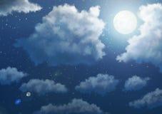 Fondo del cielo del animado - noche