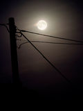 Fondo del cielo della luna piena Fotografie Stock