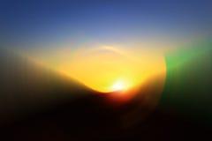 Fondo del cielo della montagna, bello fondo leggero della luce di colore della baia Fotografie Stock