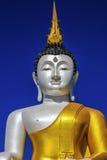 Fondo del cielo di Buddha Immagine Stock
