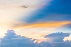 Fondo del cielo di tramonto Fotografia Stock Libera da Diritti