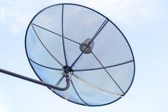 Fondo del cielo e del satellite Fotografia Stock