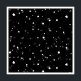 Fondo del cielo estrellado Fotografía de archivo