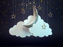 Fondo del cielo nocturno Fotos de archivo libres de regalías