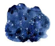 Fondo del cielo nocturno de la acuarela, textura dibujada mano del watercolour