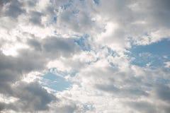 Fondo del cielo nublado Imagen de archivo